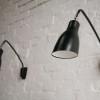 1950s Black Modernist Wall Lights 2