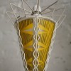 1950s Yellow Glass Ceiling Light 2