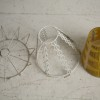 1950s Yellow Glass Ceiling Light 3