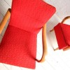 Red 1950s Lounge Chairs 2