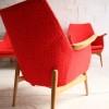 Set of 4 Orange 1950s Chairs 1