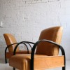 1930s Leather Armchairs 1