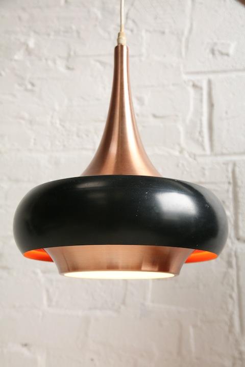 1960s Copper Ceiling Light