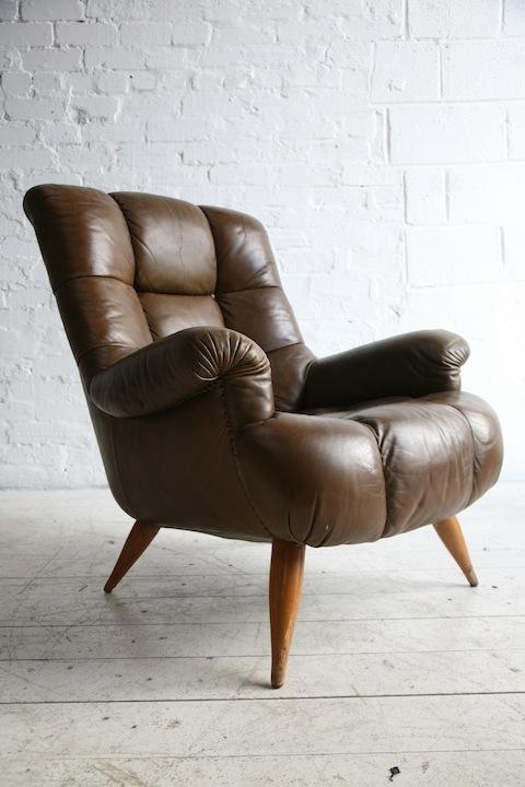 1960s Leather Armchair