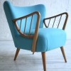 1950s Cocktail Chair in Blue