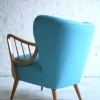 1950s Cocktail Chair in Blue1
