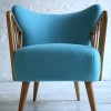 1950s Cocktail Chair in Blue2