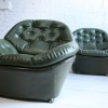 1970s Green Vinyl Chairs 3