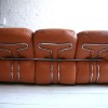 1970s Leather Sofa by Adriano Piazzesi Italy3