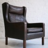 Borge Morgensen Leather Lounge Chair