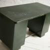 Vintage Industrial Green Metal Desk2