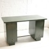 Vintage Industrial Green Metal Desk4