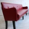 1950s Red Vinyl Bench 3