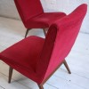 1960s Parker Knoll Red Chairs 1