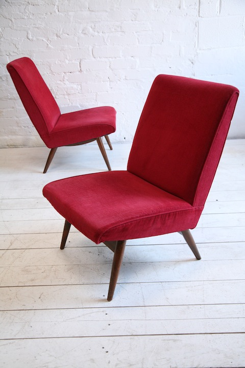 1960s Parker Knoll Red Chairs