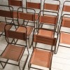 Set of 10 Industrial Stacking Chairs 1