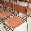 Set of 10 Industrial Stacking Chairs 2