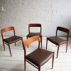 Danish Teak Dining Chairs by Niels Moller 1