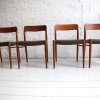 Danish Teak Dining Chairs by Niels Moller 2