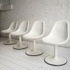 Set of 4 1960s White Dining Chairs