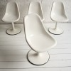 Set of 4 1960s White Dining Chairs 1