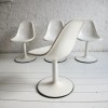 Set of 4 1960s White Dining Chairs 3