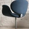 Paulin Tulip Chair in 'Storm' Blue Wool1