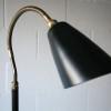 1950s Brass Black Floor Lamp1