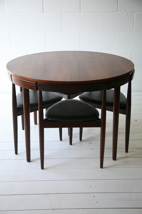 1950s Dining Table and Chairs by Hans Olsen for Frem Rojle1