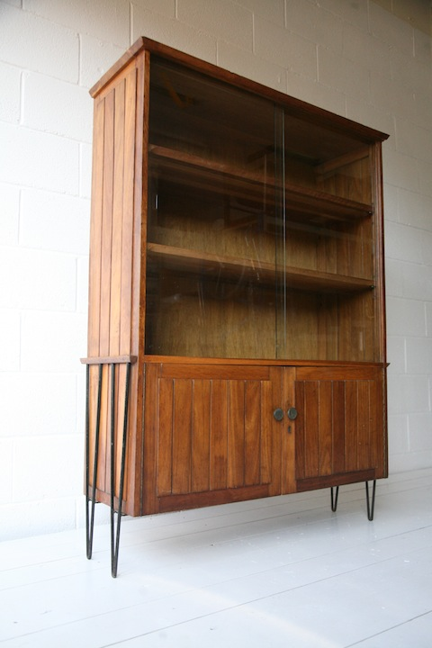 1950s Hairpin Leg Display Cabinet