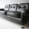1960s Black Leather Sofa2