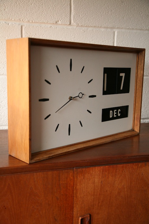 1960s Date Wall Clock