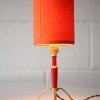 1950s Small Table Lamp and Orange Shade2