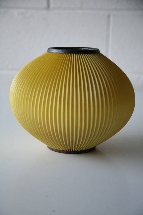 1950s Yellow Ceiling Light Shade