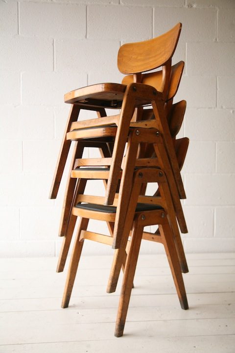 Set of 4 Stacking Chairs