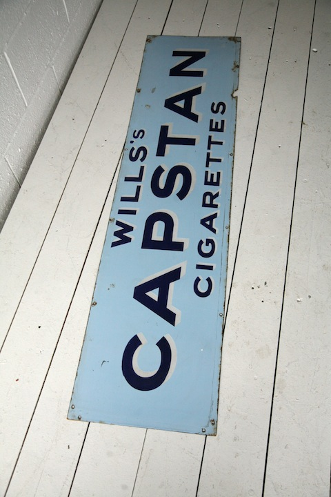 Vintage Capstan Enamel Sign