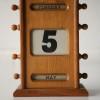 Vintage Oak Desk Calendar