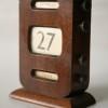 Vintage Wooden Desk Calendar