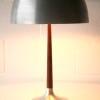 1960s Aluminium Rosewood Table Lamp 1