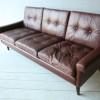 1960s Danish Leather Sofa 1