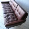 1960s Danish Leather Sofa
