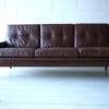 1960s Danish Leather Sofa 2