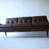 1960s Danish Leather Sofa 3