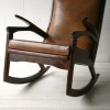 1960s Leather Rocking Chair2