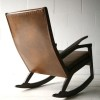 1960s Leather Rocking Chair3