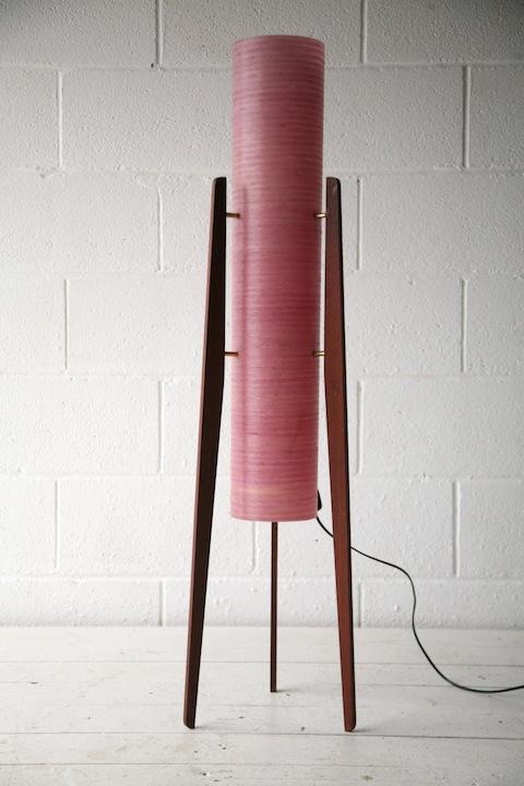 1960s Pink Rocket Lamp