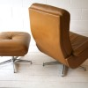 Leather 1970s Swivel Chair and Stool2