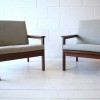 Pair of Armchairs by Illum Wikkelso and for N. Eilersen Denmark1