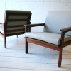 Pair of Armchairs by Illum Wikkelso and for N. Eilersen Denmark2