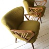 Pair of Green 1950s Cocktail Chairs